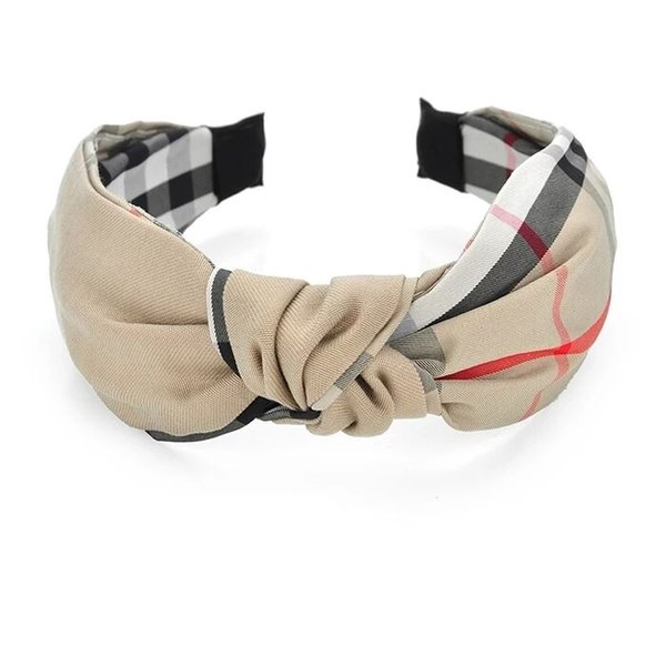 Mode large bandeau latéral pour les femmes Lady Cross noueuse Hairband Bohême Vintage Hairband Accessoires cheveux Couvre-chef