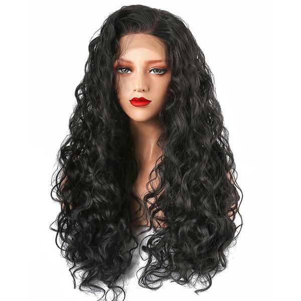 Предварительно сорвал полный парик шнурка человеческих волос натуральный волос девственница индийский свободная волна волосы парики фронта шнурка