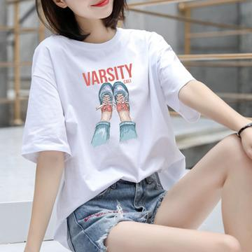 2019 High quality Fun Cartoon Sailor Moon Summer New Letters Print Harajuku Fashion ins Short Sleeve Women's T-Shirt Tops