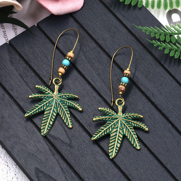 Hot Bohemian Fashion Jewelry Women's Coconut Tree Pendant Beads Dangle Earrings S398