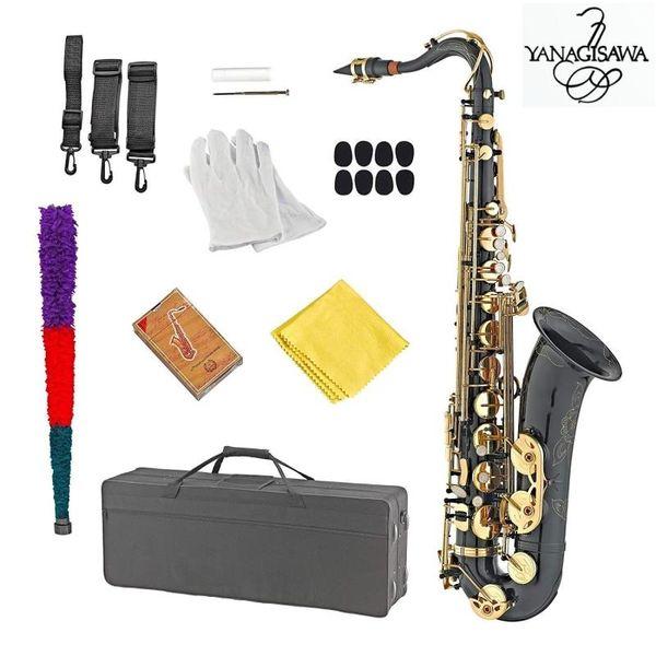 Black Nickel Gold New Янагисава T-902 Саксофон Тенор Поддержка Профессиональный тенор саксофон с Case