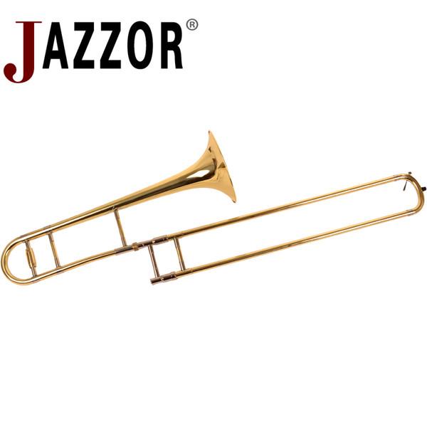 Trombone ténor professionnel JYTB-E110 B Cor ténor plat avec embouchure de trombone et gants Instruments à vent en laiton doré