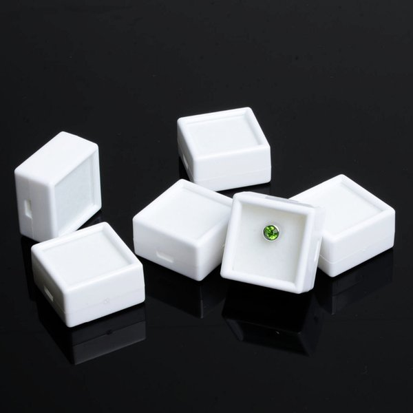 35pcs White Plastic Square Diamond Box Jewelry Beads/Stud Earring Display Box Case Showcase free shipping