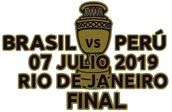 2019 Copa America finale Brasile Dettagli partita Brasile vs Perù Matchday Dettagli Soccer Patch Badge