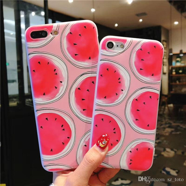 Mytoto Soft Silicone Phone Case For iphone 6 6s 6plus Fruit Watermelon Pattern TPU Case Cover For iphone 7 8 plus X 5 5s SE