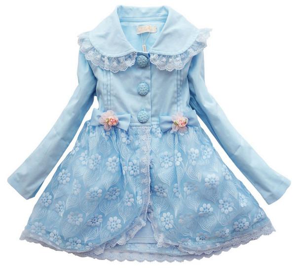 Desgaste das crianças o novo 2016 meninas casaco no período de primavera e outono e longa mangas blusão princesa cuhk tong han