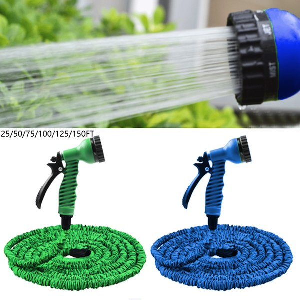 25FT-150FT Garden Hose Expandable Magic Flexible Water Hose EU Plastic Hoses Pipe With Spray Gun To Car Wash Watering