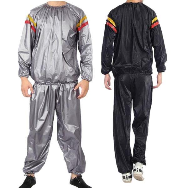 Homens de Fitness Camisas Set Tops Calça Suando Sauna Novidade Esportes Pele Patchwork Hot Straped Reflective Dropship # 0719
