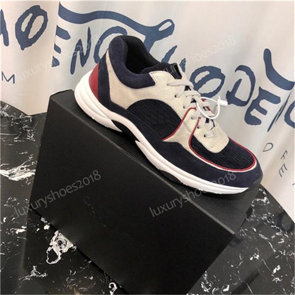 Designer de luxe Sneaker Platform Trainers Chaussures en veau velours Hommes Femmes Loisirs Chaussures En Cuir Véritable Mode Mixte Couleur Avec La Boîte