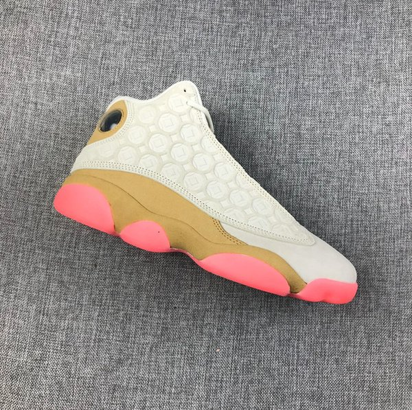 wholesale with box new cny white beige pink 13s xiii men basketball shoes sports sneakers fashion trainers size 7-13