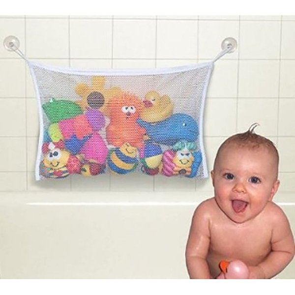 Kids Baby Bath Tub Toy Tidy Storage Suction Cup Bag Mesh Bathroom Organiser Net