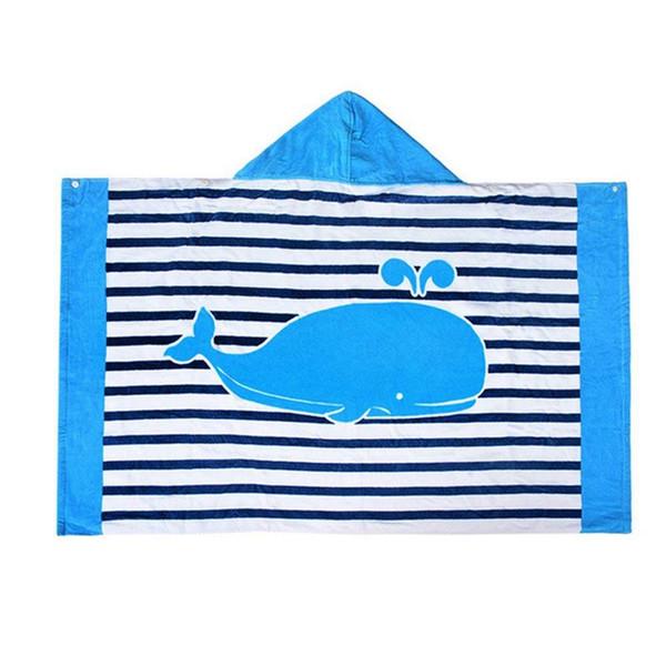 Toalha de banho com capuz para crianças Meninos Meninas 2 a 8 anos de idade, secagem rápida Toalha de praia para piscina de natação Ultra absorvente 100% algodão Ponc