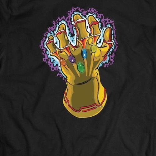 Infinity Wars Infinity Gauntlet Art Shirt * полный фронт*много вариантов тройник для мужчин с коротким рукавом низкая цена фирменная одежда футболка