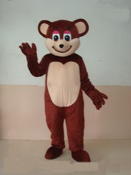 2019 Discount factory sale EVA Material Helmet Dark brown bear Mascot Costumes Movie props cartoon Apparel Custom made Adult Size