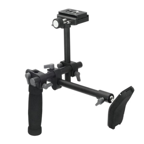Freeshipping DSLR Handle Shoulder Support Rig shoulder support stabilizer rig quick release plate for A7 R A7II Digital video Camera DVD