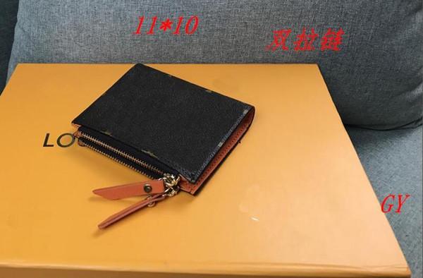 Lv gucci CHANEL MK 61271wholesale deri renkli tarih kodu kısa cüzdan kart bayanlar ve erkekler klasik fermuarlı cebi PU