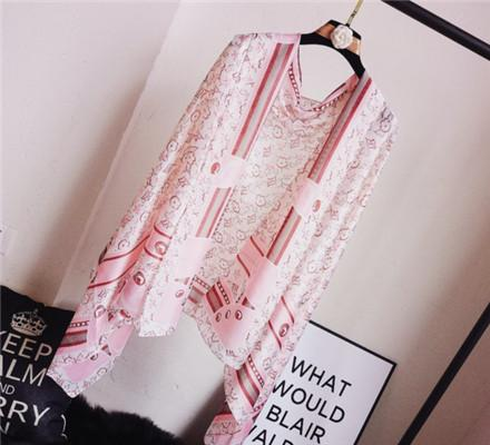New printed silk scarves spring and summer travel holiday beach towel sunscreen lady scarves wholesale