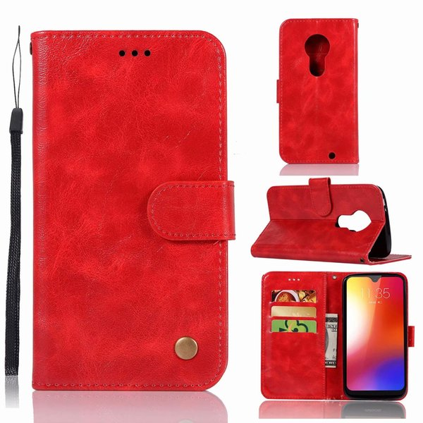 Retro Vintage PU Leather Card Slots Wallet Case For Motorola Moto G7 G6 G6 Play G6Plus G5S Plus E5 E5 Play Z3 Play