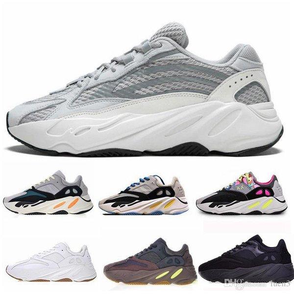 2019 Nuova 700 corridore dell'onda Mauve inerzia Scarpe Kanye West delle donne degli uomini 700 V2 Statico Sport Seankers Size 36-45 Esecuzione