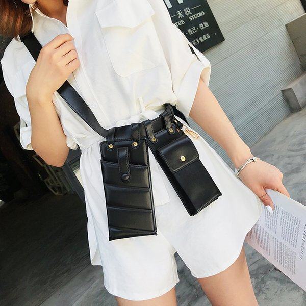 Yüksek Kalite Deri Fanny Paketi Kadınlar Bel Çantası Telefon Moda Kemer Göğüs Çanta Yeni Kadın Çanta Crossbody Sac A Main Paketleri