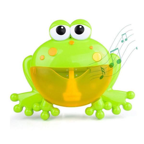 Bolla all'aperto FrogCrabs Baby Bath Toy Bubble Maker Nuoto Vasca da bagno Soap Machine Giocattoli per bambini con musica Water Toy
