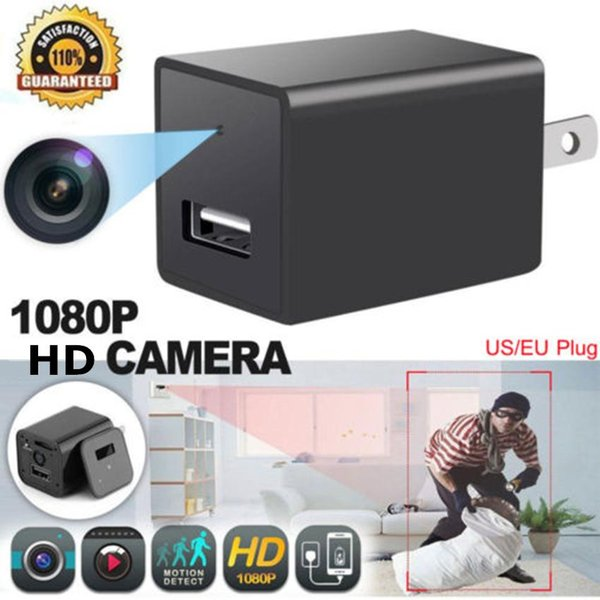 HD 1080P WIFI Camera Charger Camera USB Wall Phones Charger Camera Mini DV Motion Detection Plug Mini Cameras Home Office Security Cameras