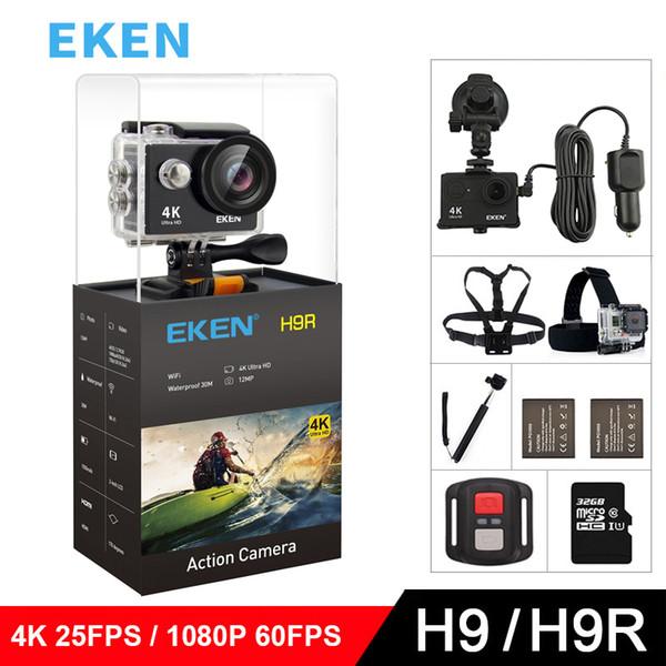 """EKEN H9 H9R Original Action camera Ultra FHD 4K 25fps 1080P 60fps WiFi 2.0"""" 170D mini go underwater waterproof Helmet Sport cam"""