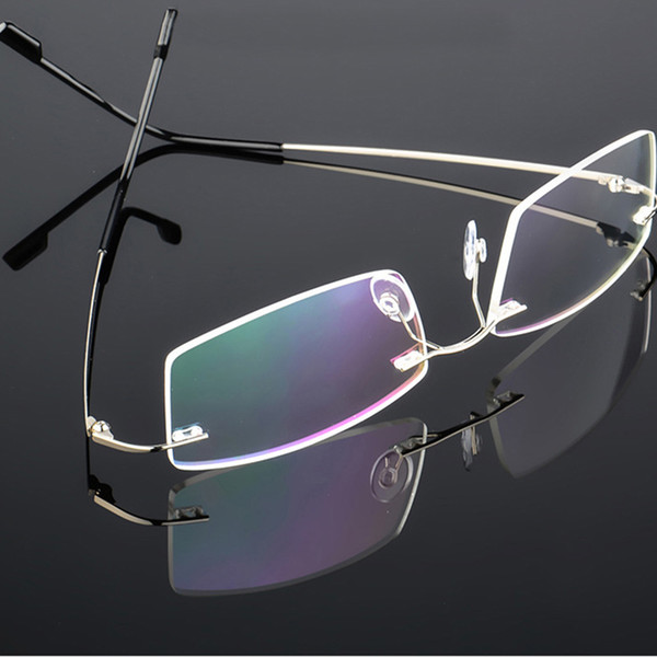 Flexible Memory Titanium Rimless Eyeglasses Frame Women Men Lightweight Optical Glasses Oculos De Grau Glasses Frame s127