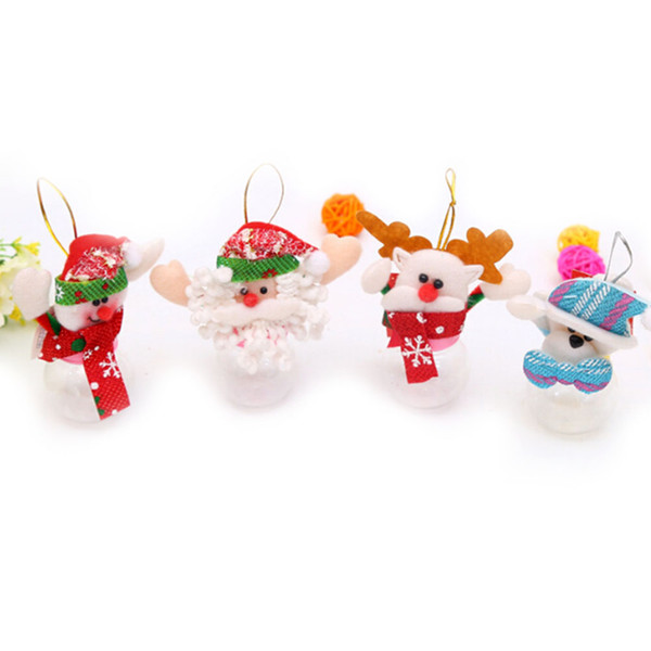 2018 Christmas Cute plush toys Candy Jar Sugar money box Santa Gifts Ornaments navidad new year Christmas Decoration for home