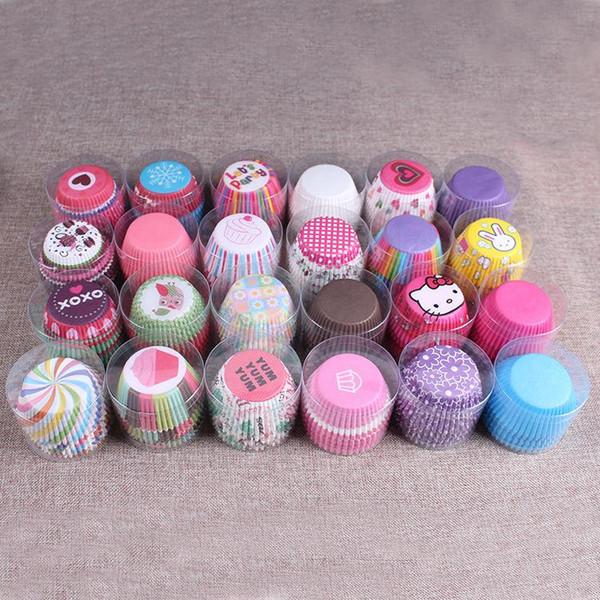 100 teile / los Muffins Papier Cupcake Form Wrapper Backförmchen Cases Muffin Boxen Kuchen Tasse Dekorieren Tools Küche Kuchen Tools DIY