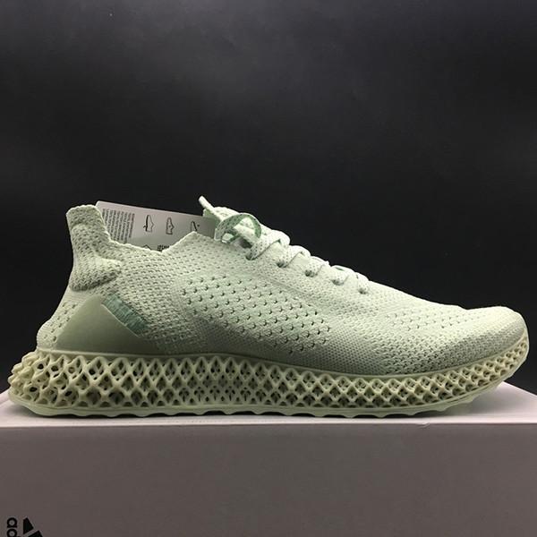 Daniel Arsham x Futurecraft Alphaedge 4D LTD Aero Ash imprimé vert BD7400 coups de pied hommes running chaussures de sport baskets formateurs avec boîte d'origine