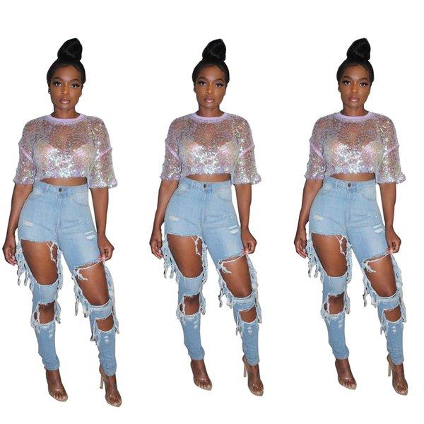 Distribuidores De Descuento Jeans Rotos Para Damas 2021 En Venta En Dhgate Com