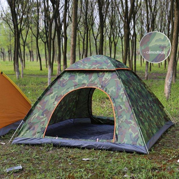 2 Personen Pop Up Camping Camo Zelt Wasserdicht Outdoor Strand Wandern Faltbar