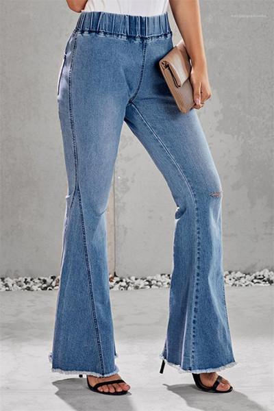 Distribuidores De Descuento Pantalones Sueltos Azul Claro Mujeres 2021 En Venta En Dhgate Com