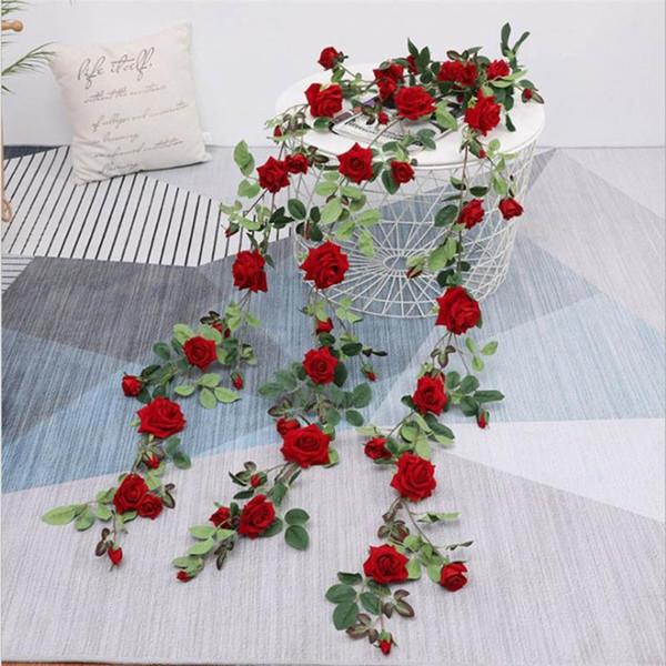 Künstliche Blumen Girlande Orchideen hängende Blumen Dekor Blumen für Hochzeit