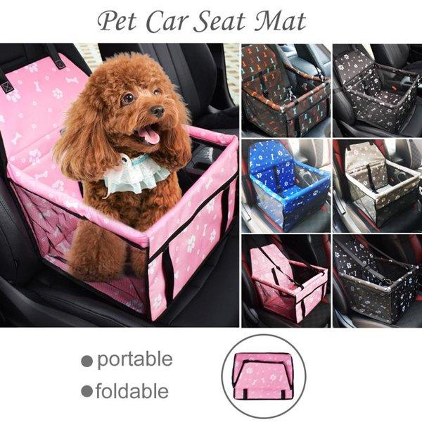 WLLBT Sac De Voiture Rembourr/é Pet Chien /Étanche Chien Seat Basket Voyage Mesh Sac Suspendu Couverture De Si/ège De Voiture Pliant 45X35X25cm 1