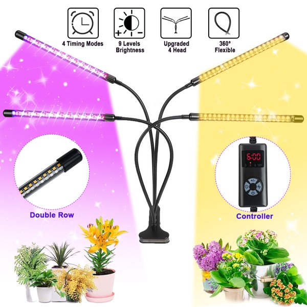 Plant Growing Light 78LED USB Interface Clip Fill Lamp Useful Waterproof Timing