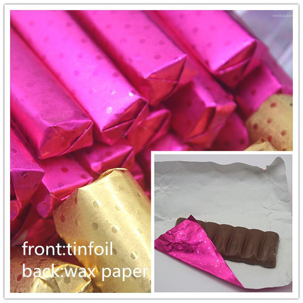 500pcs Square Candy Paper Sweets Chocolate Lolly Foil Wrappers Confectionary