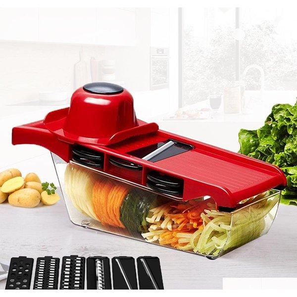 3 Styles Multifunction Kitchen Slicer Potato Carrot Grater Vegetable Cutter Chop