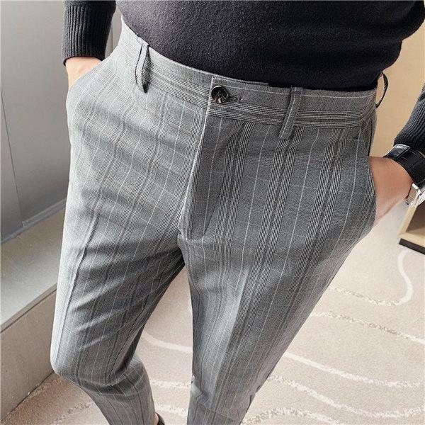 Distribuidores De Descuento Pantalones De Vestir Grises De Los Hombres 2021 En Venta En Dhgate Com