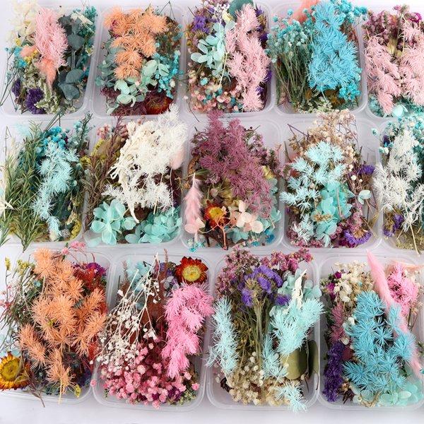 8pcs résine époxy fleurs séchées Charms Rose pendentifs pour DIY boucles