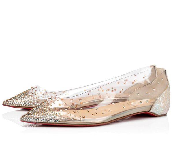 MaxMuxun Femmes Dolly Chaussures Rivet Perle Slip sur Ballerines Pompes Confortables Ballerine