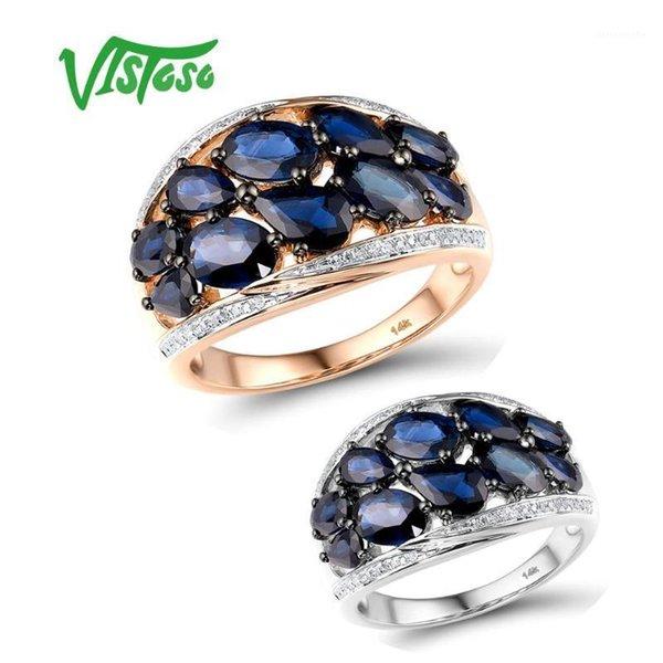 Tragbar Beliebt Blau Luxus Saphir Ringe Für Frauen Hochzeit Schmuck