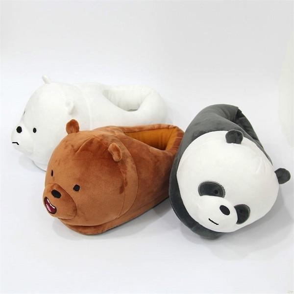 Adultes Enfants pantoufles cartoon cosplay hiver chaud Plush peluche Indoor home shoes