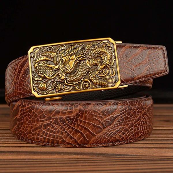 Mens Designer dragon boucles de ceinture pour 35 mm en cuir ceintures automatique boucle seulement