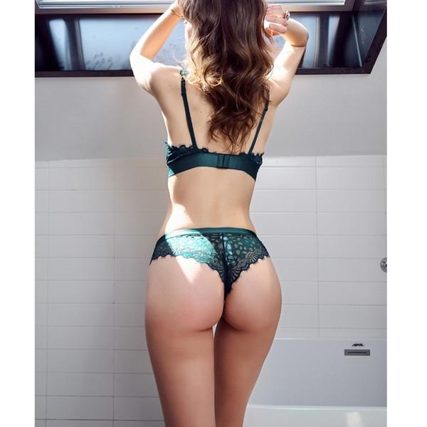 Сексуальное зеленое нижнее белье размеры женского нижнего белья бюстгальтер и трусы