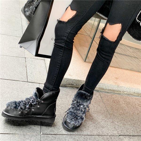 Nouveau Femme en Daim Bottes De Neige Peluche Chaud Sports Outdoor Casual Sneakers Flats