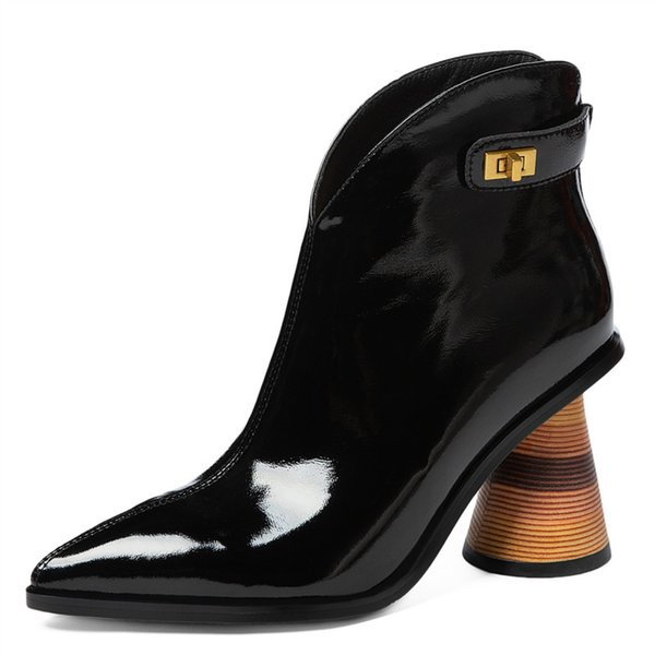 New collection autumn winter 2019 2020  Women/'s boots  Ankle boots  Black boots  Designer boots  Stylish boots  Casual boots  DHL
