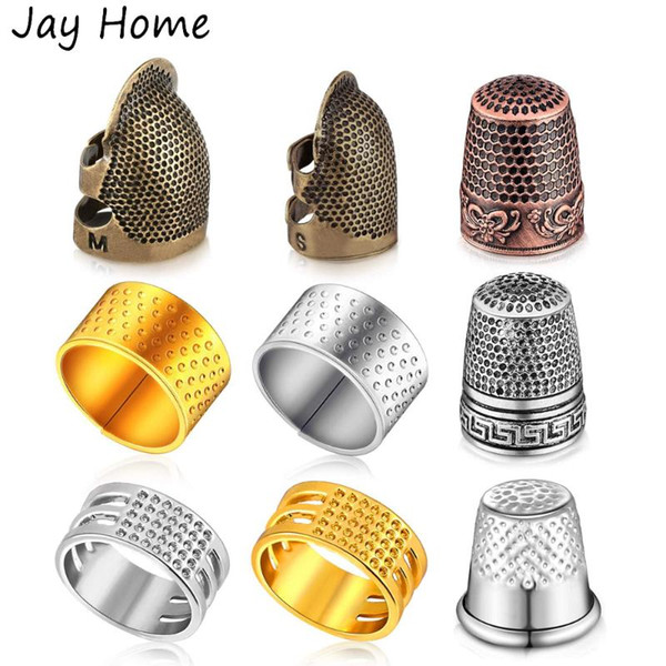 1pc Sewing Thimble Copper Finger Protector Adjustable Fingertip Thimble for Sewing Embroidery Quilting Craft Accessories DIY Sewing Tools Needlework