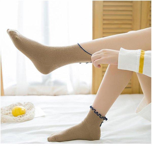 Korean women/'s sports socks two bars summer couple tide socks breathable